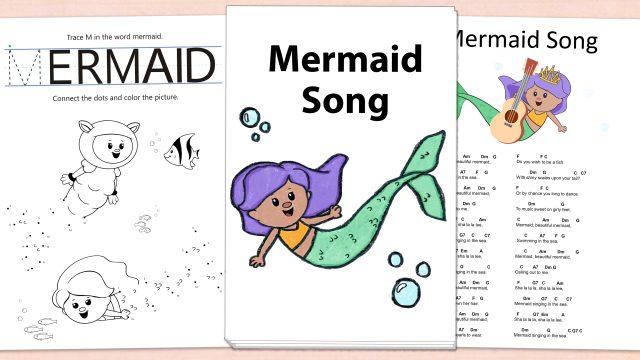 Mermaid Song Printables