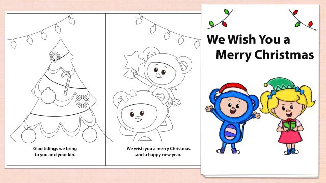 We Wish You a Merry Christmas Printables