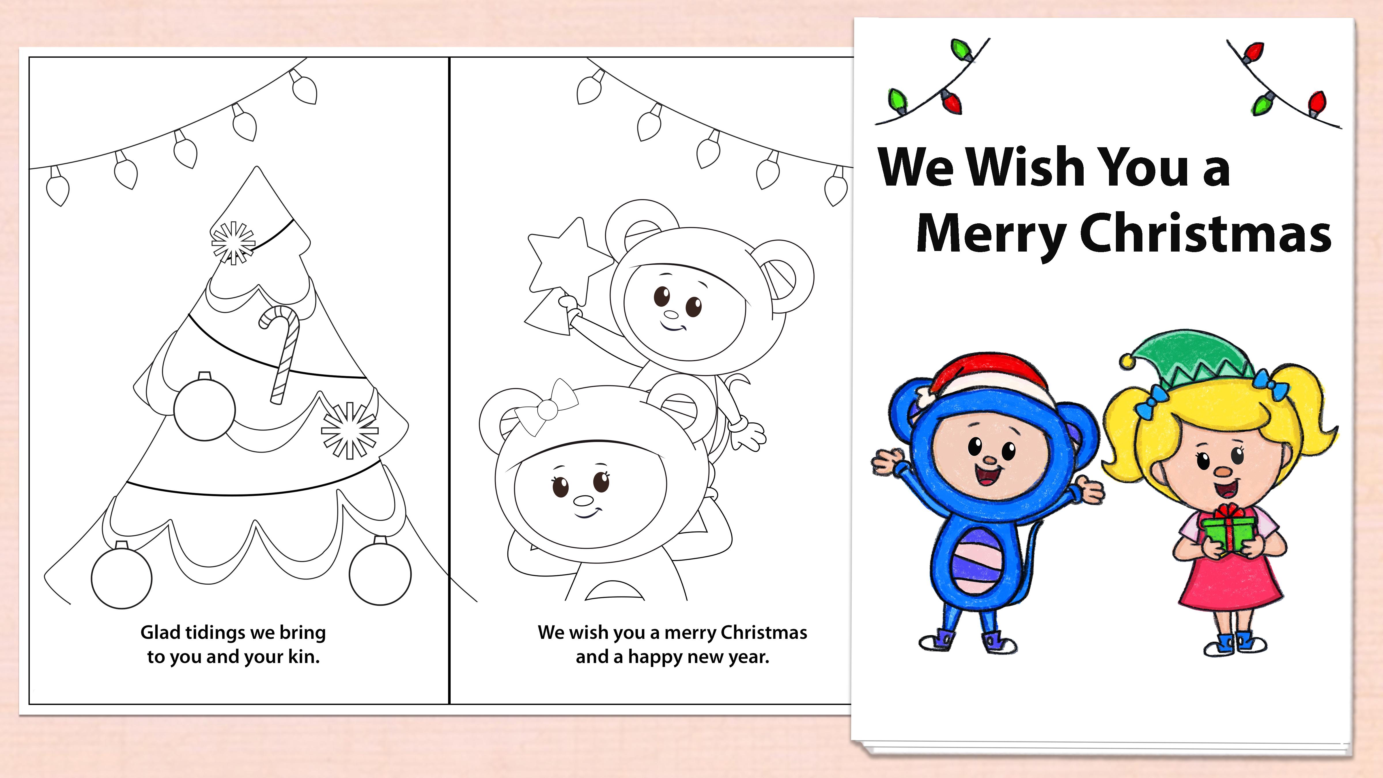 'We Wish You a Merry Christmas' Mini Book