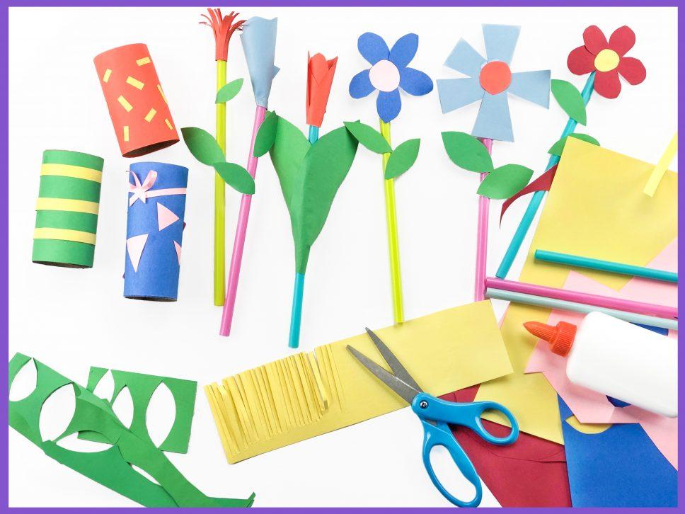 Paper Flower Craft Step 1