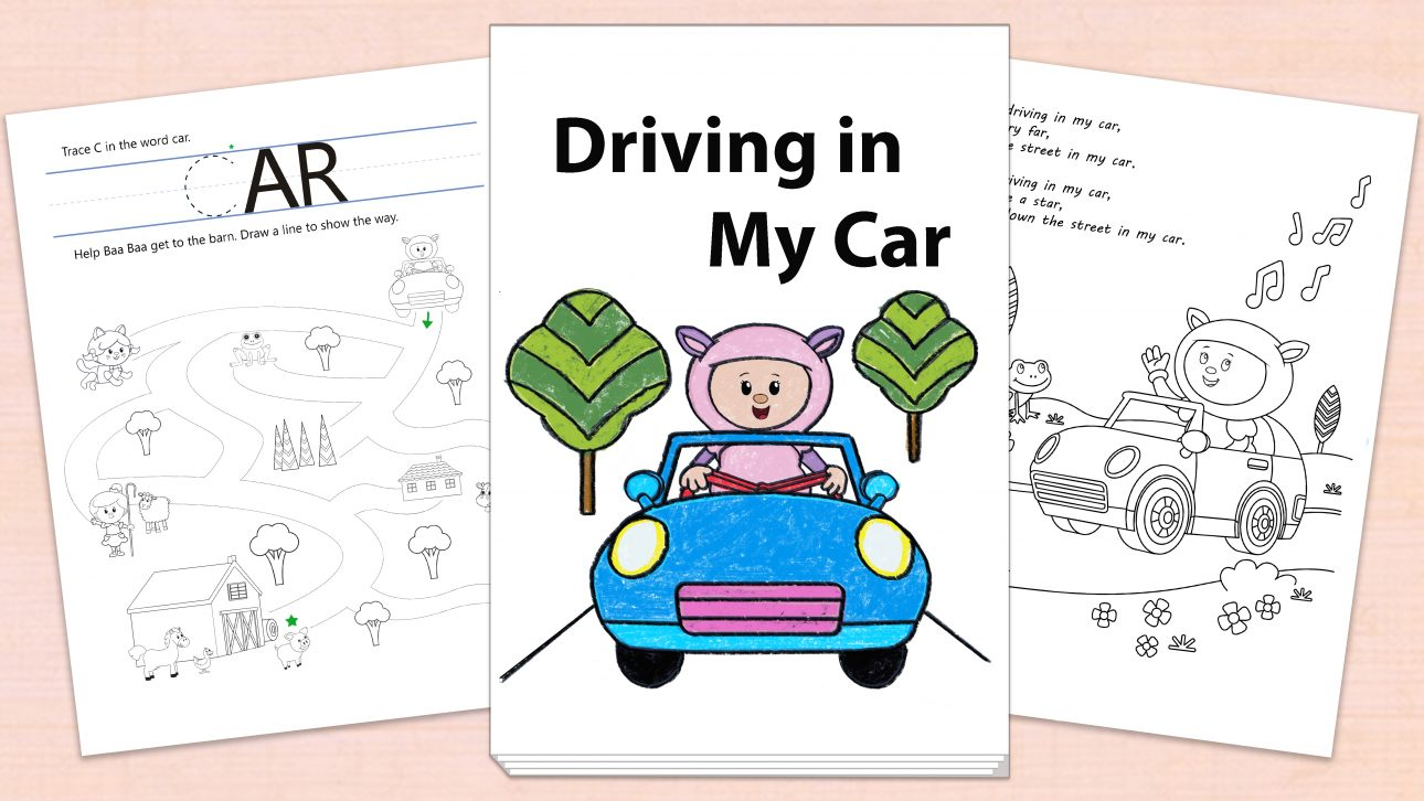 Driving in My Car Printables Page