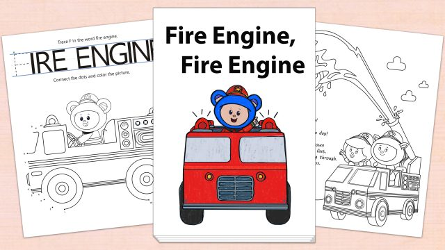 Fire Engine, Fire Engine Printables