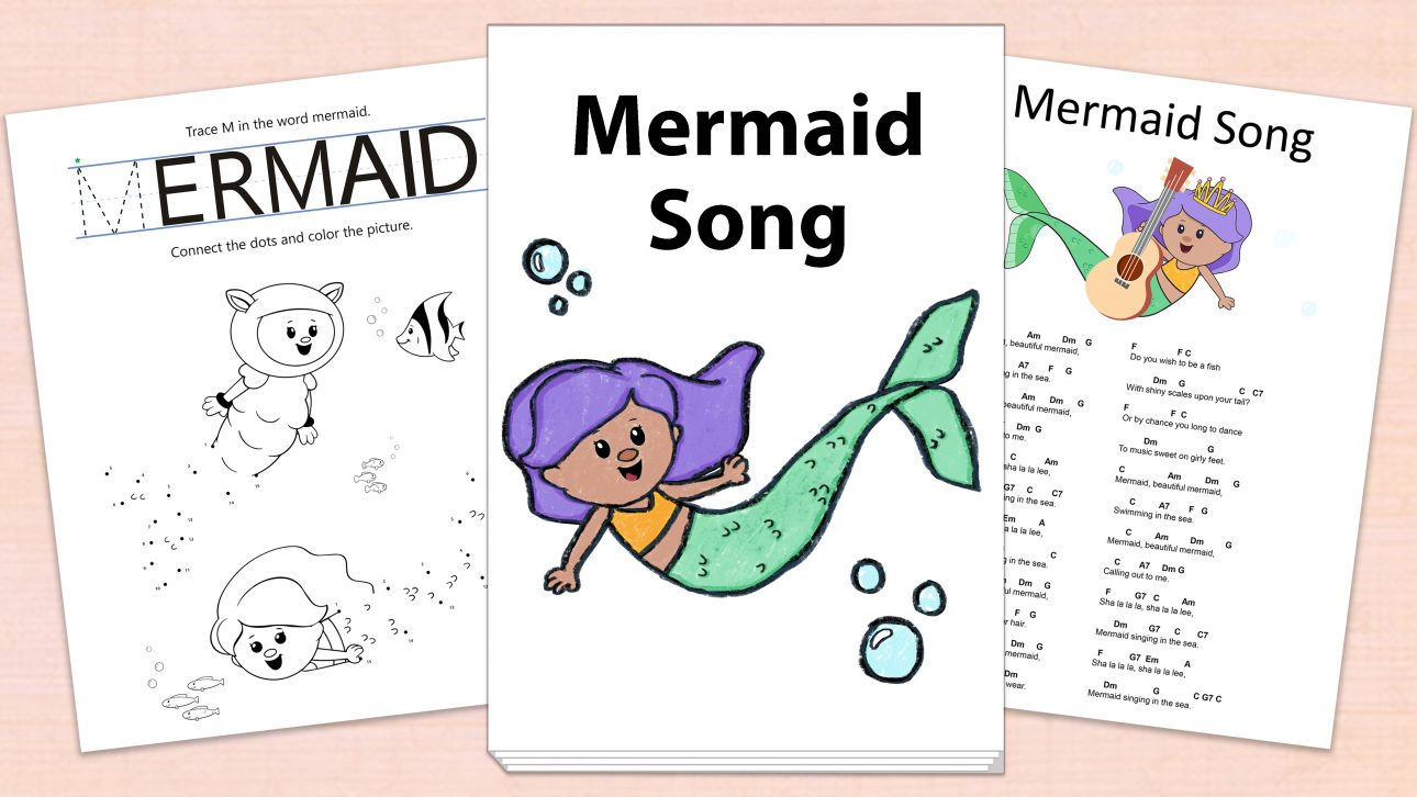 Mermaid Song Printables