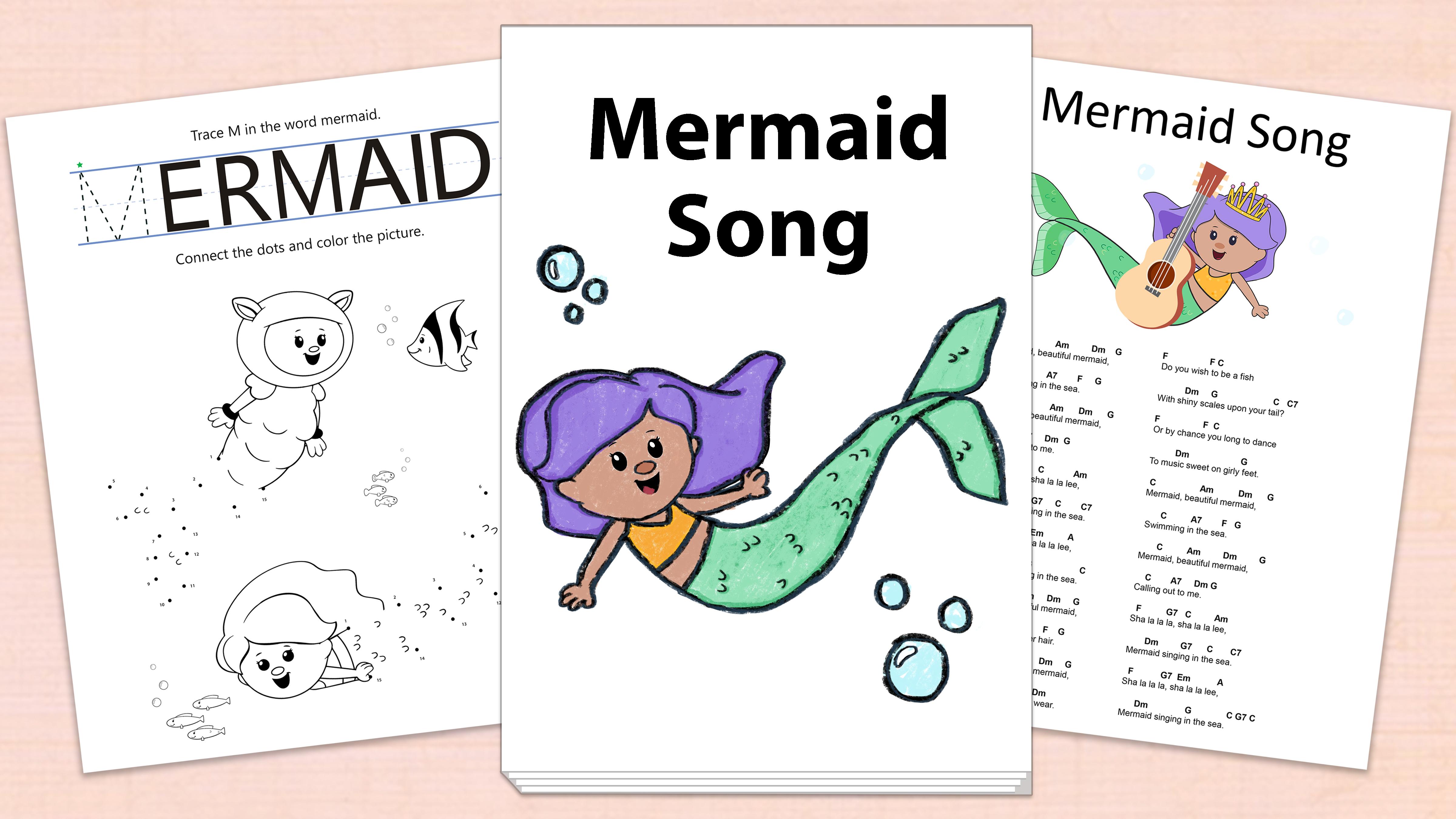 'Mermaid Song' Printables