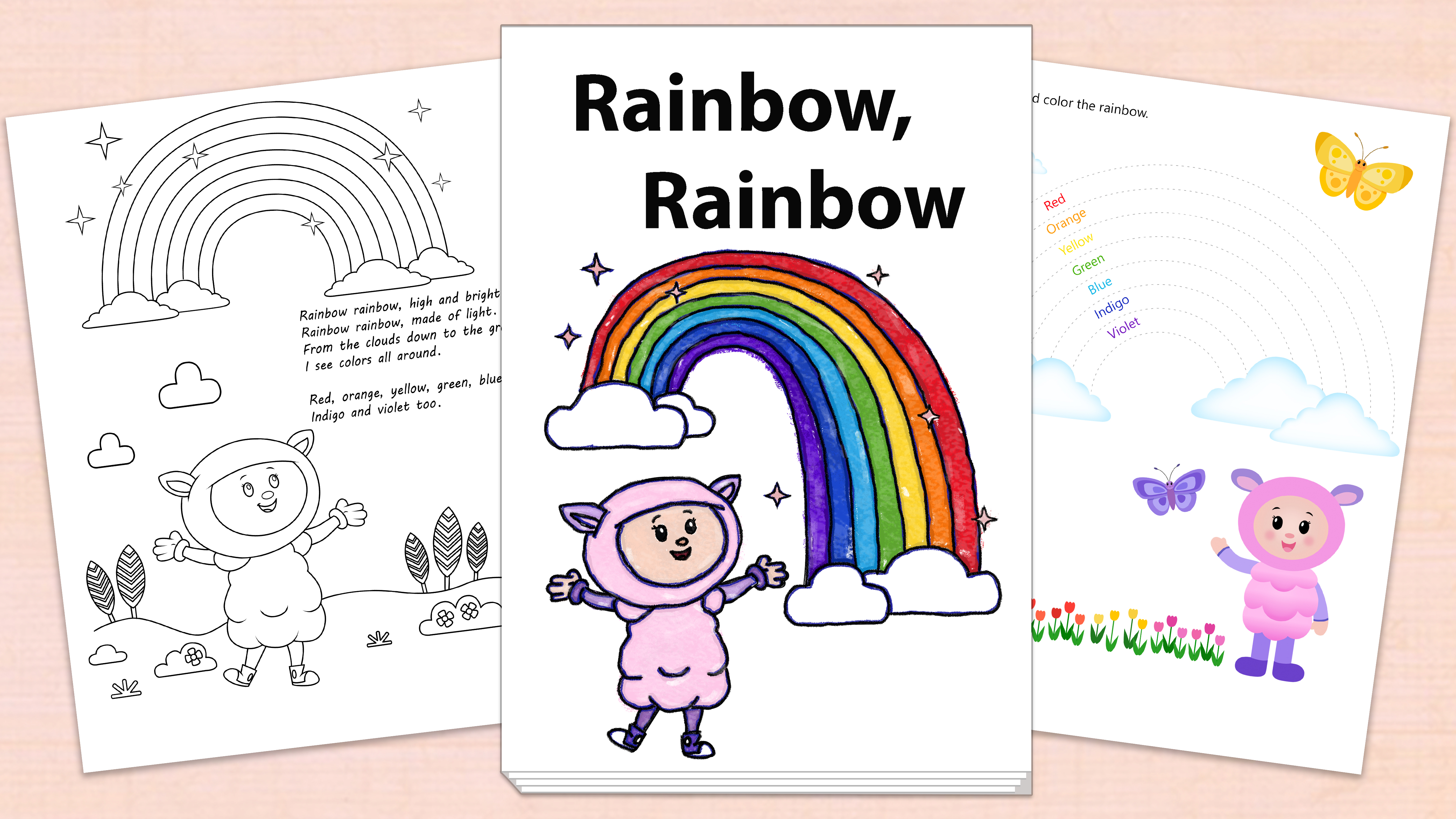 'Rainbow, Rainbow' Printables