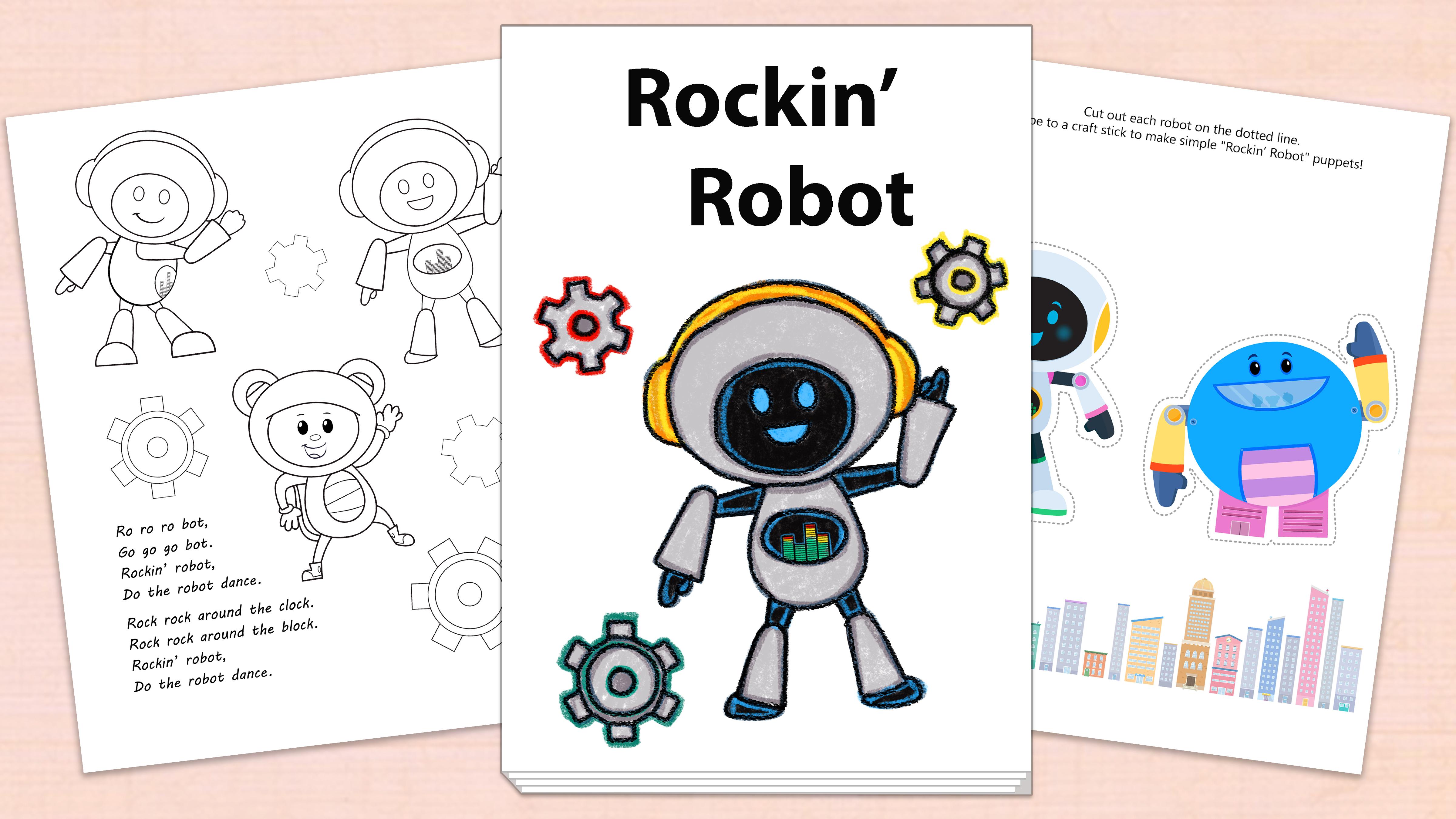 'Rockin' Robot' Printables