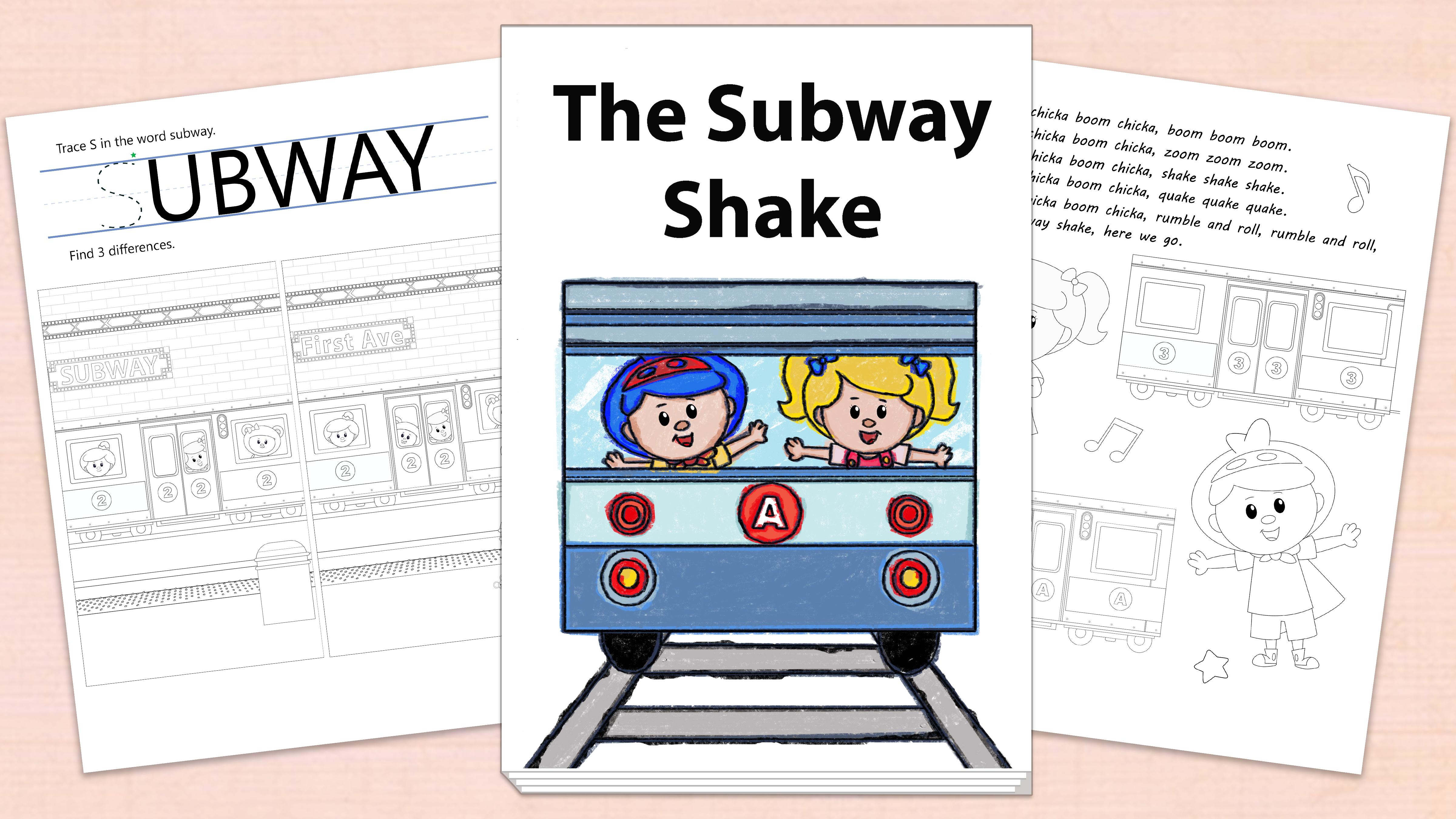 'The Subway Shake' Printables