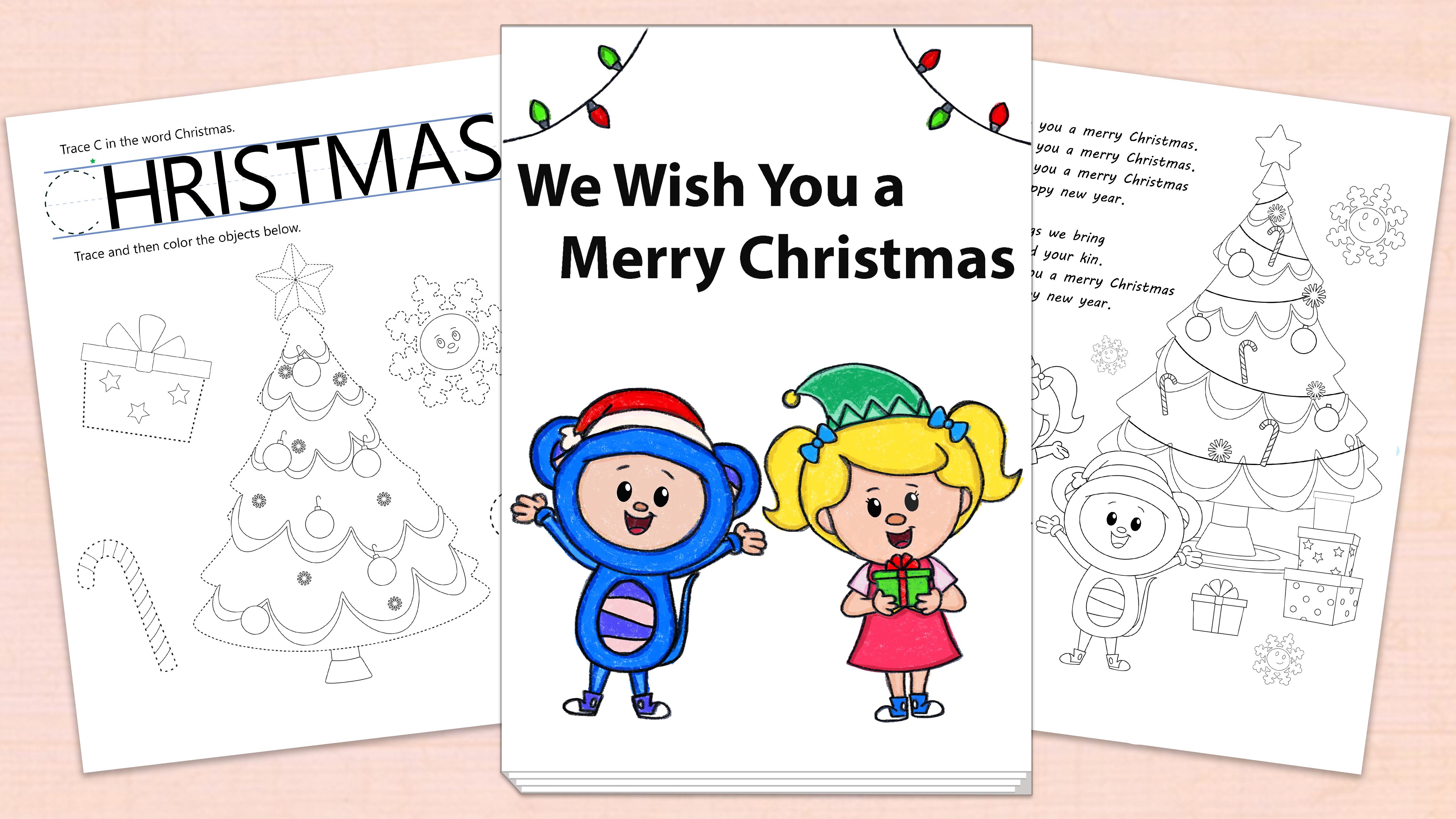 'We Wish You a Merry Christmas' Printables