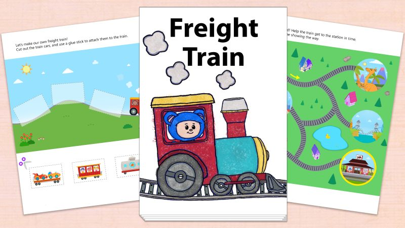 Image for Freight Train – Printables