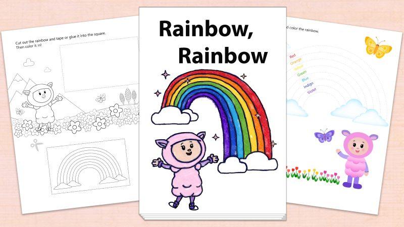 Image for Rainbow, Rainbow – Printables