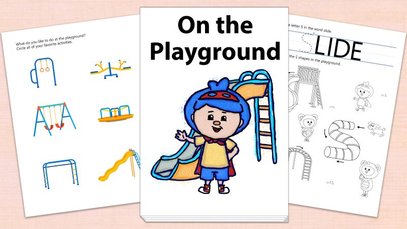 Image for On the Playground – Printables