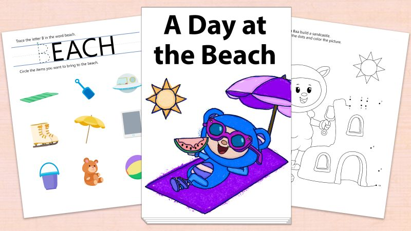 Image for A Day at the Beach – Printables