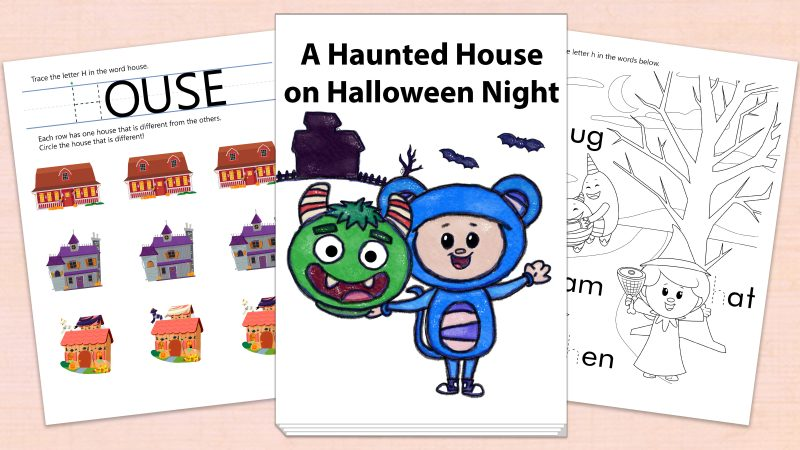 Image for A Haunted House on Halloween Night – Printables