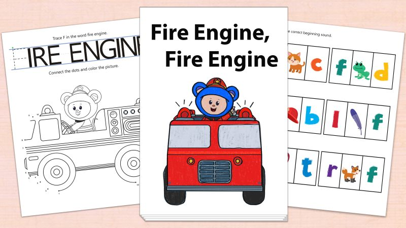 Image for Fire Engine, Fire Engine – Printables