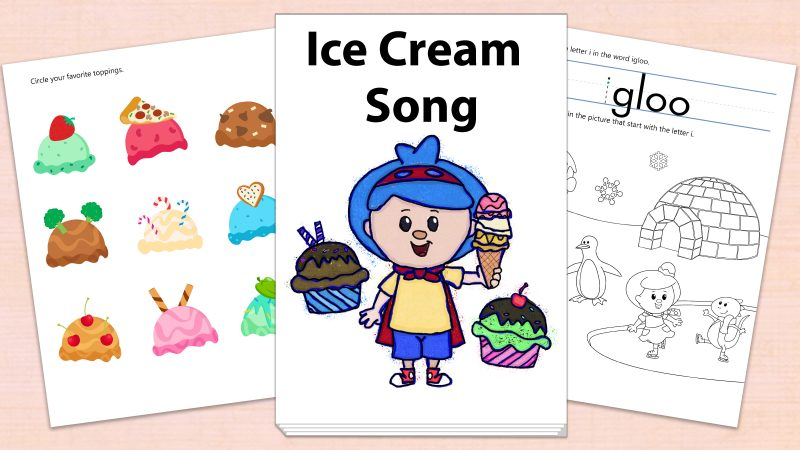 Image for Ice Cream Song – Printables